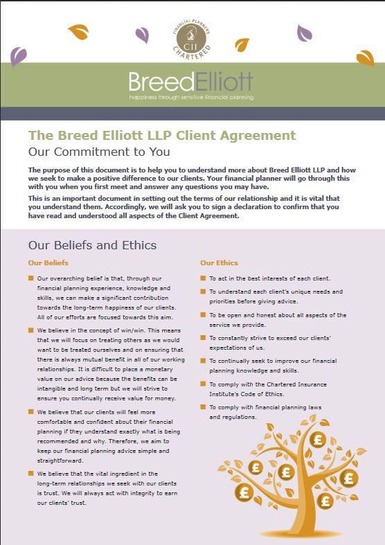 Breed Elliott Agreement